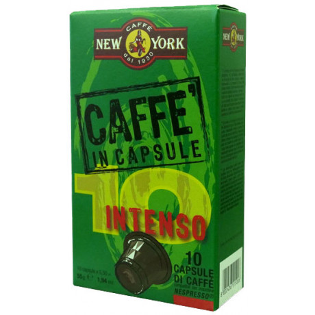 10 Caffe New York Intenso Nespresso®* kompatible Kapseln