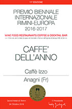 Caffè Izzo awarded COFFEE OF THE YEAR 2016